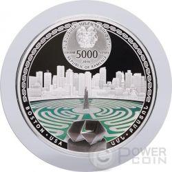 BOSTON Labyrinths Of The World 2 Oz Серебро Proof Монета 5000 Драм  Армения 2016