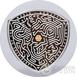 VAALS Labyrinths Of The World 2 Oz Silber Proof Münze 5000 Dram Armenia 2016