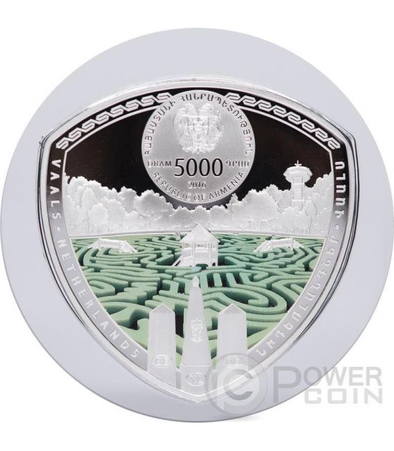 VAALS Labyrinths Of The World 2 Oz Silver Proof Coin 5000 Dram Armenia 2016