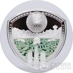 VAALS Labyrinths Of The World 2 Oz Silver Proof Coin 5000 Dram Armenia 2016