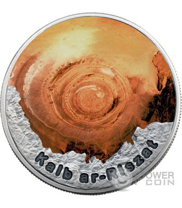 EYE OF THE SAHARA Circle Of Secrets 1 Oz Silver Coin 2$ Niue 2016