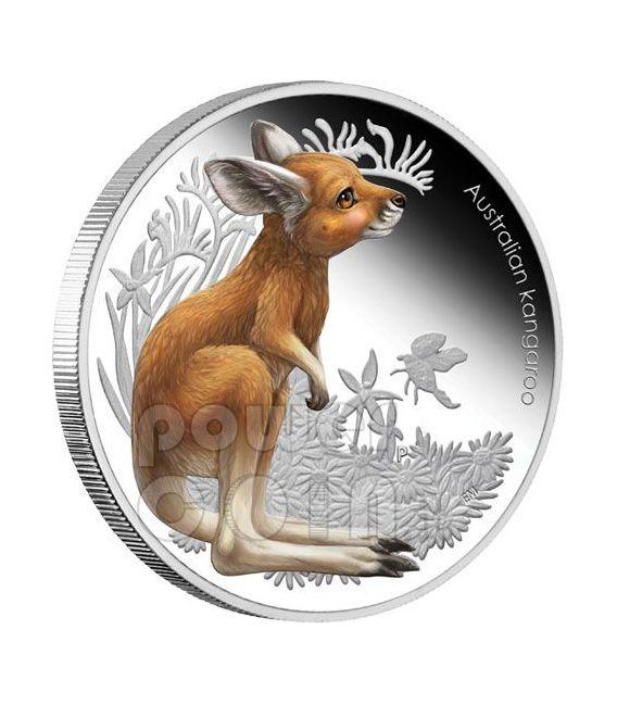 CANGURO Kangaroo Bush Babies Moneta Argento 50c Australia 2011
