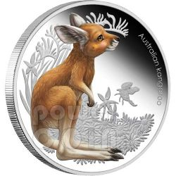 KANGAROO Bush Babies Plata Proof Moneda 50c Australia 2011