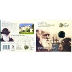 DARWIN Charles 200 Anniversario Moneta BU £2 UK Royal Mint 2009