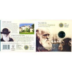 DARWIN Charles 200th Anniversary BU Монета Pack £2 UK Royal Mint 2009