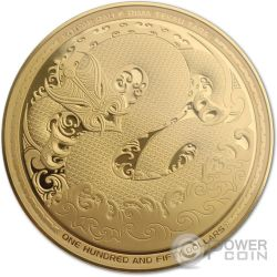 MYTHICAL TANIWHA Maori Tekau Tara 5 Oz Moneta Oro 150$ Nuova Zelanda 2017