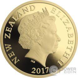 MYTHICAL TANIWHA Maori Tekau Tara 5 Oz Gold Münze 150$ New Zealand 2017
