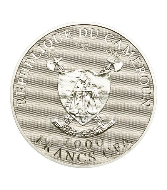 BUTTERFLIES OF LOVE Papillons Hologram Silver Coin 1000 Francs Cameroon 2010