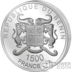 SPACE PHENOMENA SUPERNOVA 3 Oz Silber Münze 1500 Francs Benin 2016
