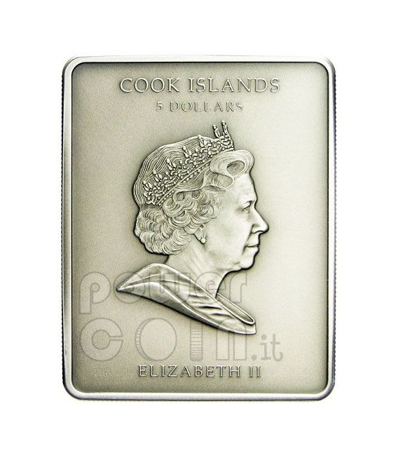 DAVID Michelangelo Marble Moneda Plata 5$ Cook Islands 2010