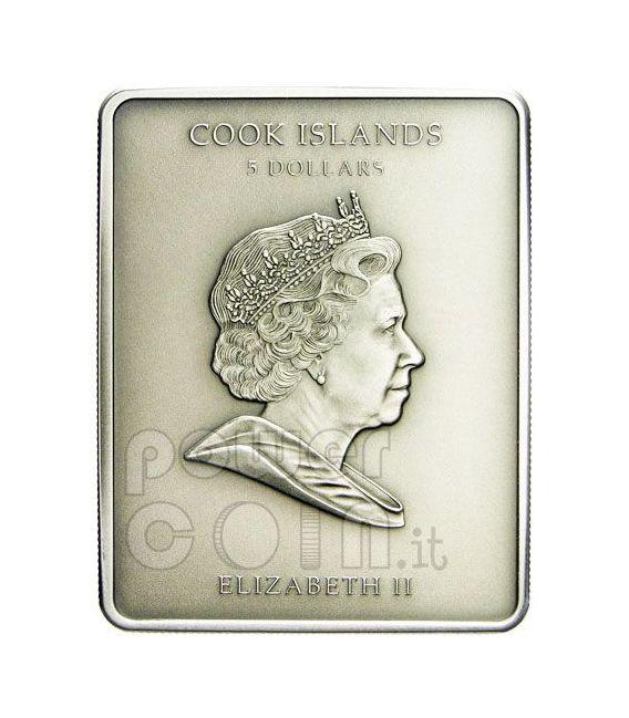DAVID Michelangelo Marble Silber Münze 5$ Cook Islands 2010
