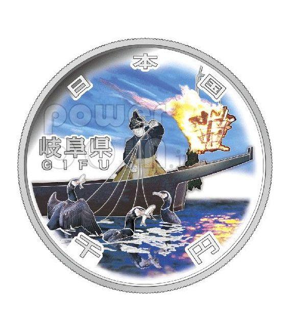 GIFU 47 Prefectures (9) Silver Proof Coin 1000 Yen Japan Mint 2010