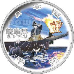 GIFU 47 Prefectures (9) Silber Proof Münze 1000 Yen Japan 2010