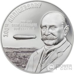 GRAF ZEPPELIN 100th Anniversary 3 Oz Silver Coin 20$ Cook Islands 2017
