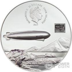 GRAF ZEPPELIN 100th Anniversary 3 Oz Silver Coin 20$ Cook Islands 2017