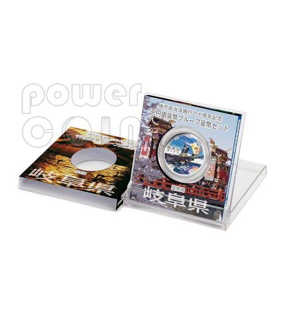 GIFU 47 Prefectures (9) Plata Proof Moneda 1000 Yen Japan Mint 2010