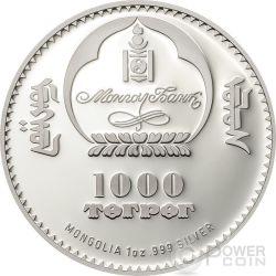 FIDEL CASTRO Cuba 1 Oz Silver Coin 1000 Togrog Mongolia 2017