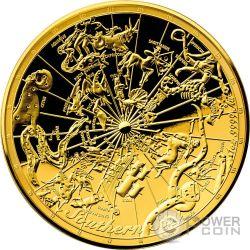 CELESTIAL DOME Southern Sky Volta Celeste 1 Oz Moneta Oro 100$ Australia 2017