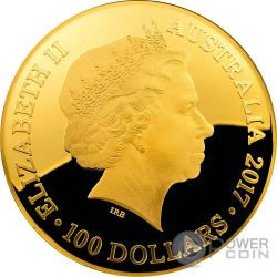 CELESTIAL DOME Southern Sky Esfera Celeste 1 Oz Moneda Oro 100$ Australia 2017