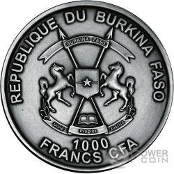 HELIOCENTRIC THEORY Teoria Heliocentrica Nicolas Copernico 1 Oz Moneda Plata 1000 Franchi Burkina Faso 2016