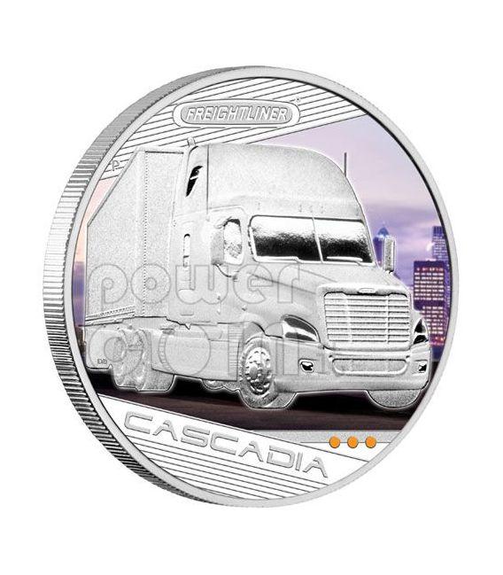 KINGS OF THE ROAD Trucks 4 Silber Münze Set 1$ Tuvalu 2010
