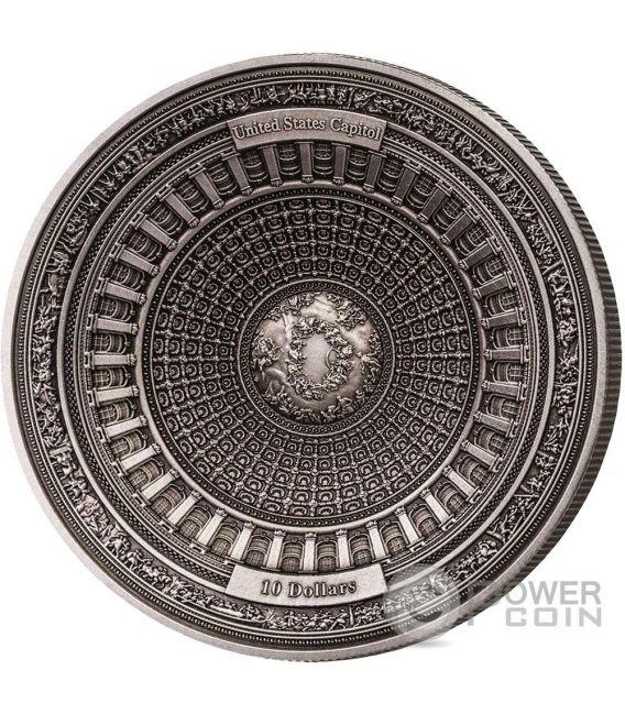 United States Capitol 4 Layer Silver Coin 10 Samoa 2017