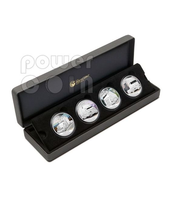 KINGS OF THE ROAD Trucks 4 Silver Coin Set 1$ Tuvalu 2010