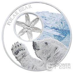 SNOWFLAKE BEARS Orsi delle Nevi Set 3x1 Oz Monete Argento 1$ Tokelau 2015 2016 2017