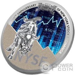NEW YORK STOCK EXCHANGE NYSE 200th Anniversary 1 Oz Silver Coin 1000 Francs Cameroon 2017