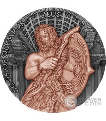 ZEUS Gods of Olympus 2 Oz Silver Coin 5$ Niue Island 2017