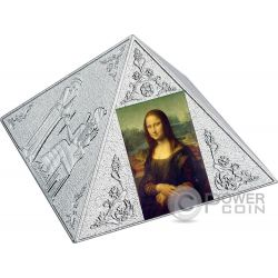 TEMPLE OF ART Pyramid Shaped 3 Oz Silver Coin 15$ Niue 2016