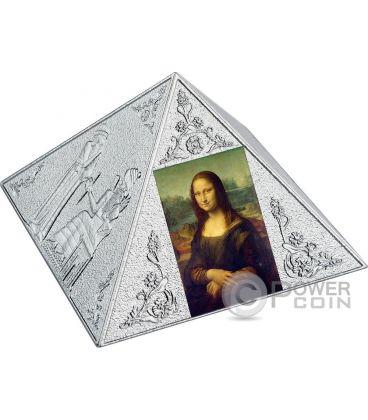 TEMPLE OF ART Pyramid Shaped 3 Oz Silver Coin 15$ Niue Island 2016