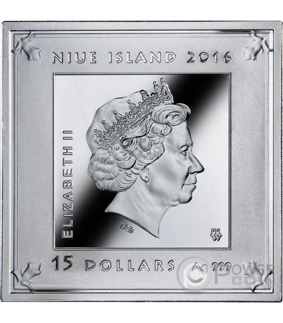 TEMPLE OF ART Pyramid Shaped 3 Oz Silber Münze 15$ Niue 2016
