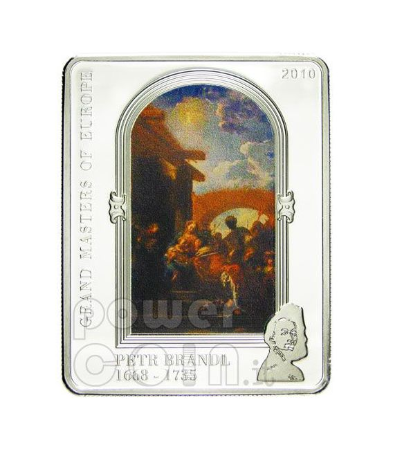 BRANDL PETR Adorazione Dei Magi Moneta Argento 5$ Cook Islands 2010