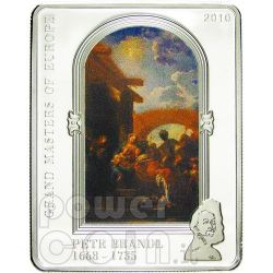 BRANDL PETR Adoration Of The Magi Silver Coin 5$ Cook Islands 2010