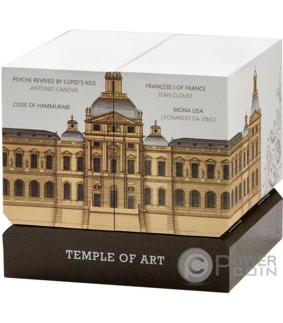 TEMPLE OF ART Templo Arte Forma Piramide 3 Oz Moneda Plata 15$ Niue 2016