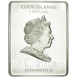 BRANDL PETR Adoration Of The Magi Moneda Plata 5$ Cook Islands 2010