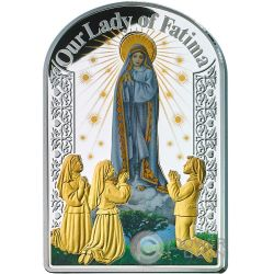 OUR LADY OF FATIMA Madonna Moneta Argento 2$ Tokelau 2017