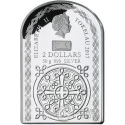OUR LADY OF FATIMA Madonna Серебро Монета 2$ Токелау 2017