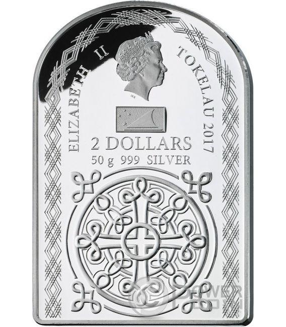 WEEPING MADONNA OF SYRACUSE Tears Silver Coin 2$ Tokelau 2017