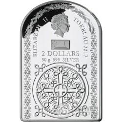 WEEPING MADONNA OF SYRACUSE Tears Серебро Монета 2$ Токелау 2017