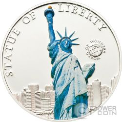 STATUA DELLA LIBERTA World of Wonders Moneta Argento 5$ Palau 2010