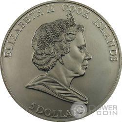 BRENHAM PALLASITE Meteorite Palladium Moneda Plata 5$ Cook Islands 2007