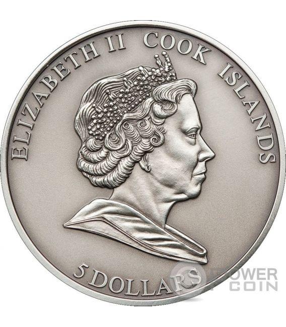 METEORITE HAH 280 Silber Münze 5$ Cook Islands 2010