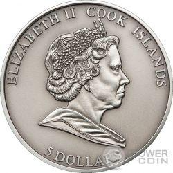METEORITE HAH 280 Moneda Plata 5$ Cook Islands 2010