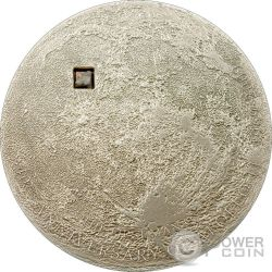 LUNA Moon Meteorite Pietra Lunare Moneta Argento 5$ Cook Islands 2009
