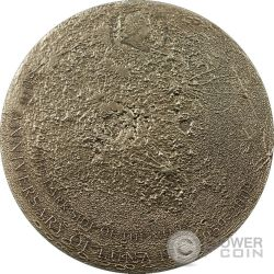 MOON Lunar Meteorite Moonstone Silber Münze 5$ Cook Islands 2009