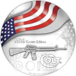 COLT M16 US Army Rifle Silber Münze 2$ Mesa Grande 2010