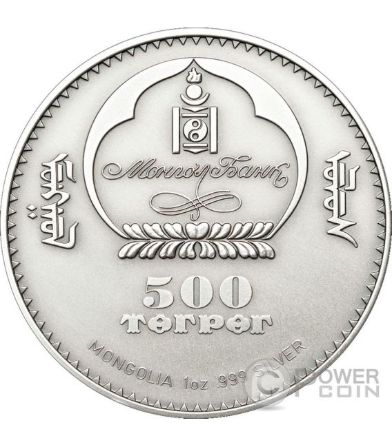 URAL OWL Wildlife Protection Silver Coin Swarovski 500 Togrog Mongolia 2011
