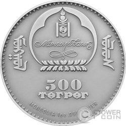 ARGALI OVIS AMMON Pecora Selvatica Moneta Argento 500 Togrog Mongolia 2013